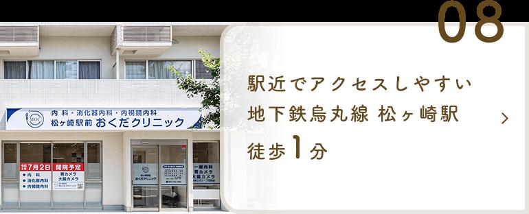 駅近でアクセスしやすい 地下鉄烏丸線 松ヶ崎駅徒歩1分